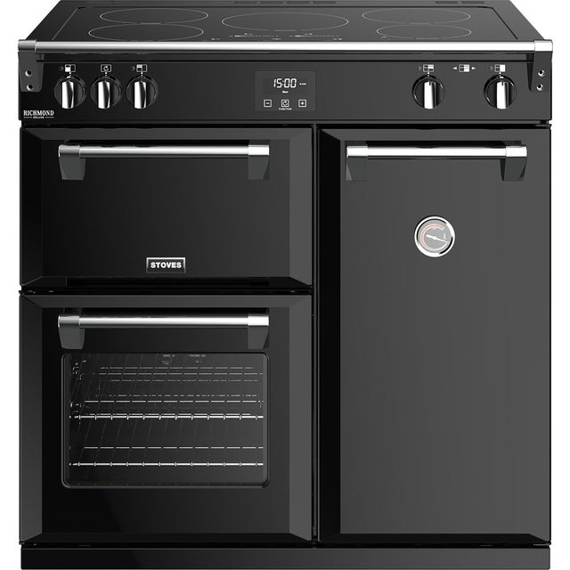 Stoves Richmond Deluxe S900EI 90cm Electric Range Cooker with Induction Hob - Black - A/A/A Rated - Richmond Deluxe S900EI_BK - 1