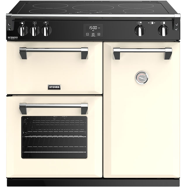Stoves Richmond Deluxe S900EI 90cm Electric Range Cooker with Induction Hob - Cream - A/A/A Rated - Richmond Deluxe S900EI_CR - 1