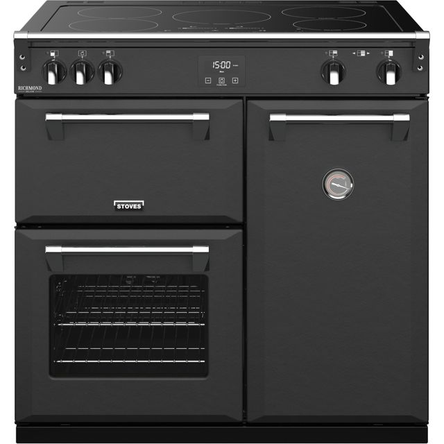 Stoves Colour Boutique Collection Richmond Deluxe S900Ei CB 90cm Electric Range Cooker with Induction Hob - Anthracite - A/A/A Rated - Richmond Deluxe S900Ei CB_AN - 1