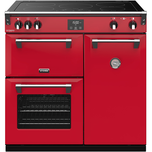 Stoves Colour Boutique Collection Richmond Deluxe S900Ei CB 90cm Electric Range Cooker with Induction Hob - Hot Jalapeno - A/A/A Rated