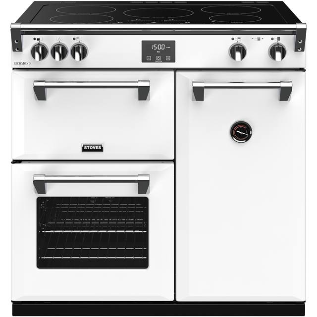 Stoves Colour Boutique Collection Richmond Deluxe S900Ei CB 90cm Electric Range Cooker with Induction Hob - Icy Brook - A/A/A Rated - Richmond Deluxe S900Ei CB_IB - 1