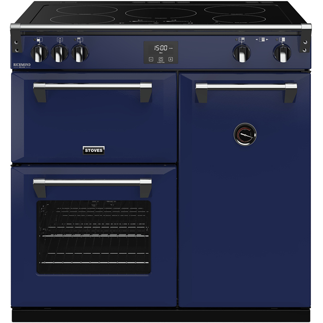 Stoves Colour Boutique Collection Richmond Deluxe S900Ei CB 90cm Electric Range Cooker with Induction Hob - Midnight Gaze - A/A/A Rated - Richmond Deluxe S900Ei CB_MG - 1