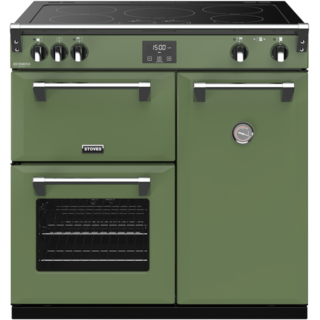 Stoves Colour Boutique Collection Richmond Deluxe S900Ei CB 90cm Electric Range Cooker with Induction Hob - Soho Green - A/A/A Rated - Richmond Deluxe S900Ei CB_SGN - 1