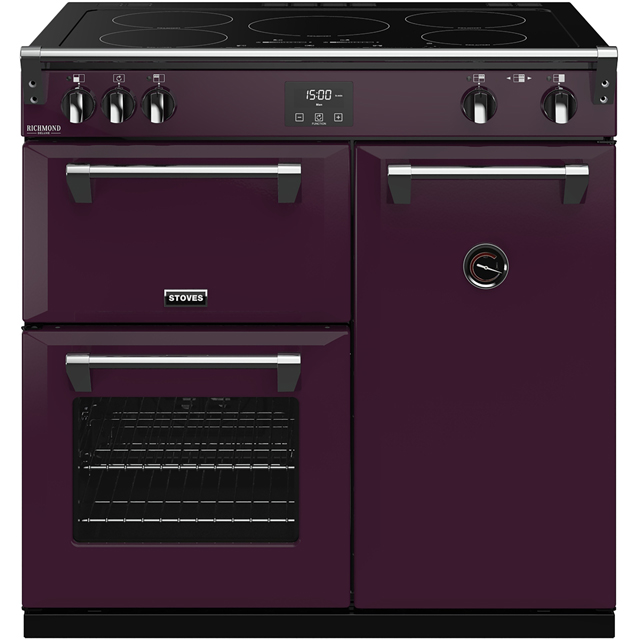 Stoves Colour Boutique Collection Richmond Deluxe S900Ei CB 90cm Electric Range Cooker with Induction Hob - Wild Berry - A/A/A Rated - Richmond Deluxe S900Ei CB_WB - 1