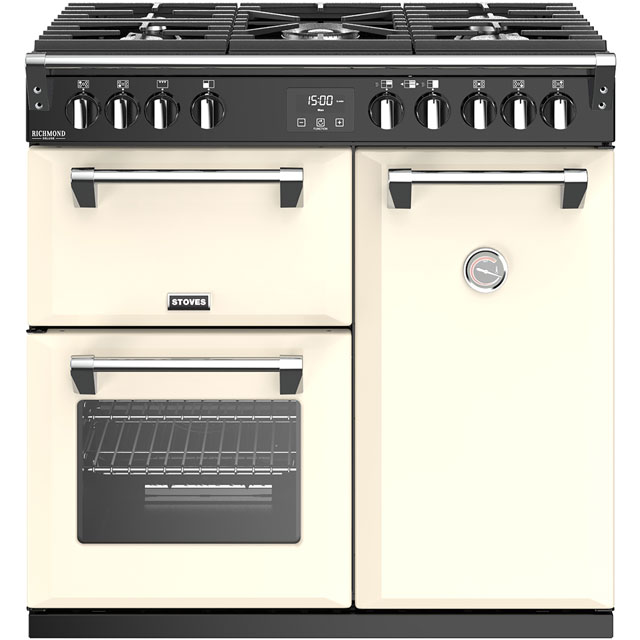 Stoves Richmond Deluxe S900G 90cm Gas Range Cooker - Cream - A/A Rated - Richmond Deluxe S900G_CR - 1