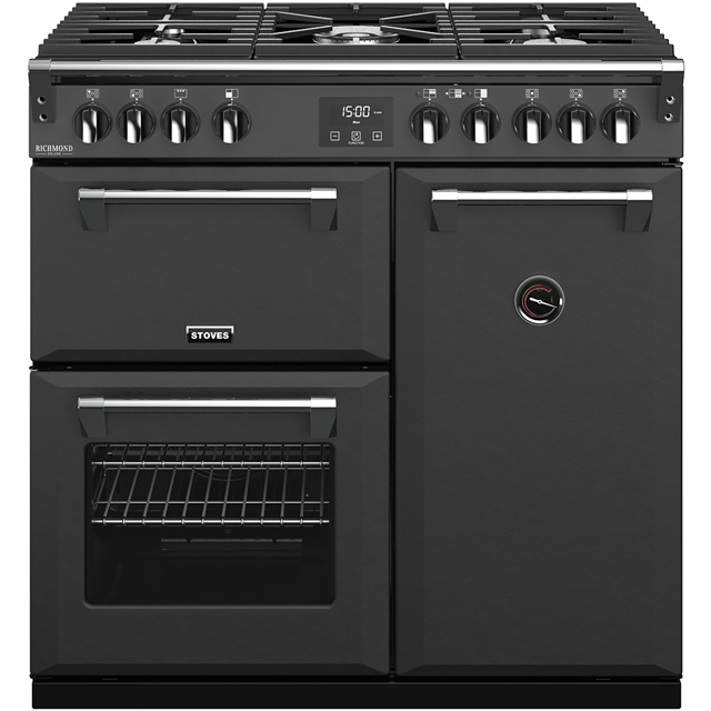Stoves Colour Boutique Collection Richmond Deluxe S900G CB 90cm Gas Range Cooker - Anthracite - A/A/A Rated - Richmond Deluxe S900G CB_AN - 1