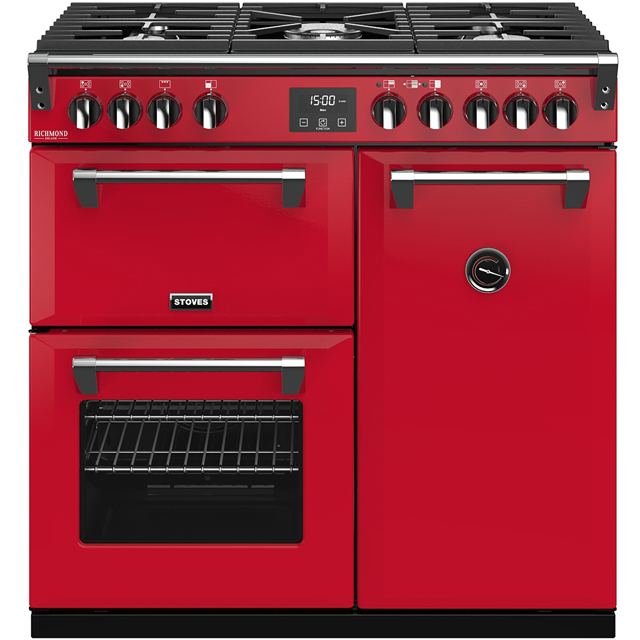 Stoves Colour Boutique Collection Richmond Deluxe S900G CB 90cm Gas Range Cooker - Hot Jalapeno - A/A/A Rated - Richmond Deluxe S900G CB_HJA - 1