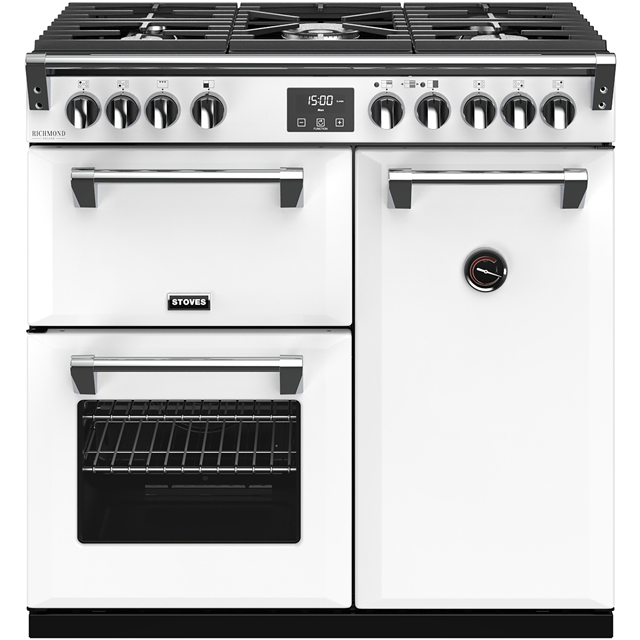 Stoves Colour Boutique Collection Richmond Deluxe S900G CB 90cm Gas Range Cooker - Icy Brook - A/A/A Rated - Richmond Deluxe S900G CB_IB - 1