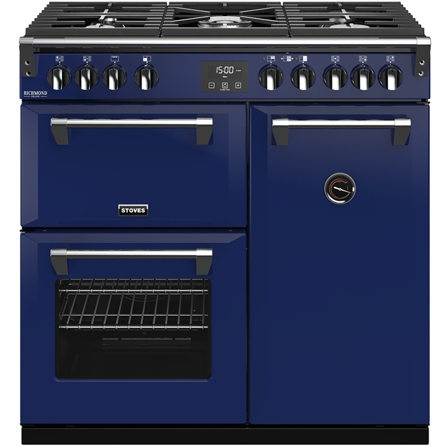 Stoves Colour Boutique Collection Richmond Deluxe S900G CB 90cm Gas Range Cooker - Midnight Gaze - A/A/A Rated - Richmond Deluxe S900G CB_MG - 1