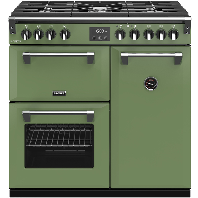 Stoves Colour Boutique Collection Richmond Deluxe S900G CB 90cm Gas Range Cooker - Soho Green - A/A/A Rated - Richmond Deluxe S900G CB_SGN - 1