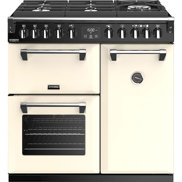 Stoves Richmond Deluxe S900GTG 90cm Dual Fuel Range Cooker - Cream - A/A/A Rated - Richmond Deluxe S900GTG_CR - 1