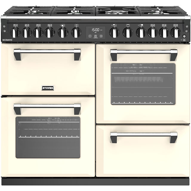 Stoves Richmond S1000DF 100cm Dual Fuel Range Cooker - Cream - A/A/A Rated - Richmond S1000DF_CR - 1