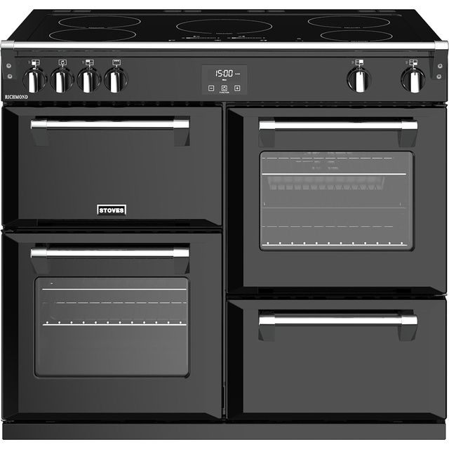 Stoves Richmond S1000Ei 100cm Electric Range Cooker with Induction Hob - Black - A/A/A Rated - Richmond S1000Ei_BK - 1