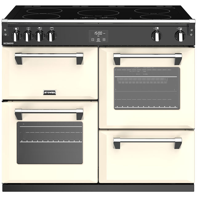 Stoves Richmond S1000Ei 100cm Electric Range Cooker with Induction Hob - Cream - A/A/A Rated - Richmond S1000Ei_CR - 1