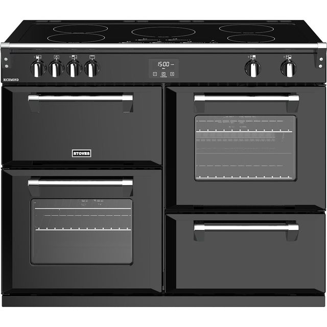 Stoves Richmond S1100Ei 110cm Electric Range Cooker with Induction Hob - Black - A/A/A Rated - Richmond S1100Ei_BK - 1