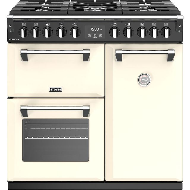 Stoves Richmond S900DF 90cm Dual Fuel Range Cooker - Cream - A/A/A Rated - Richmond S900DF_CR - 1