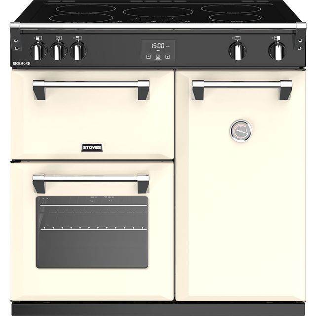 Stoves Richmond S900Ei 90cm Electric Range Cooker with Induction Hob - Cream - A/A/A Rated - Richmond S900Ei_CR - 1