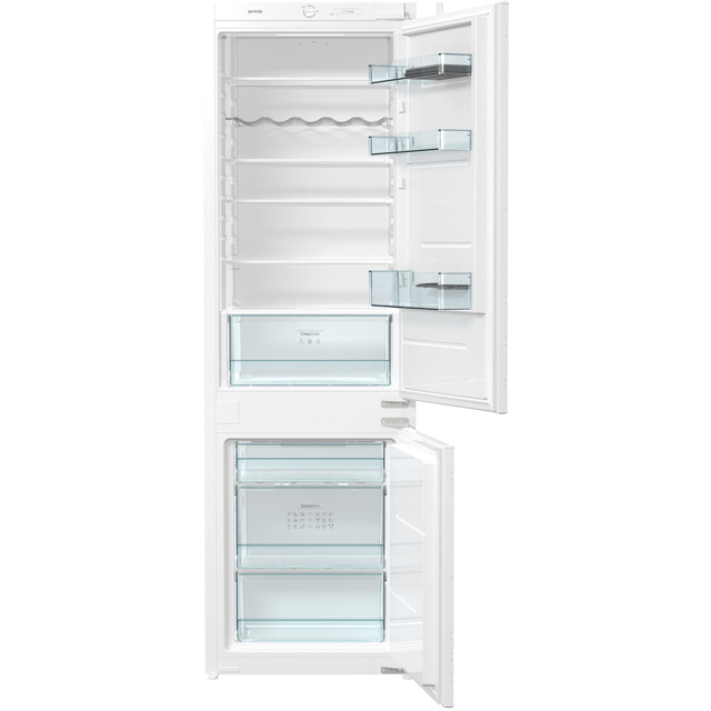 Gorenje RKI4181E1UK Integrated 60/40 Fridge Freezer with Sliding Door Fixing Kit - White - A+ Rated - RKI4181E1UK_WH - 1