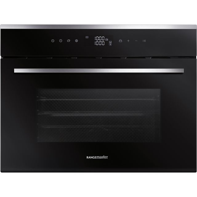 Rangemaster RMB45SCBL/SS Built In Compact Steam Oven - Black