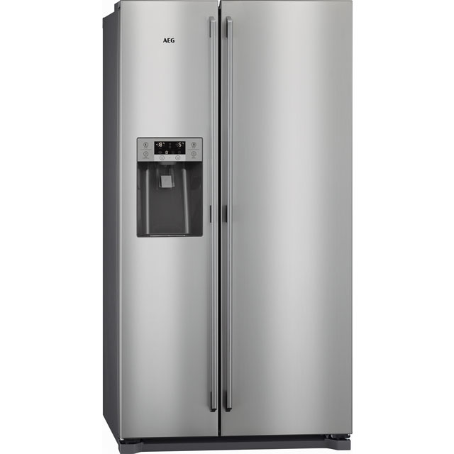 AEG RMB76111NX Free Standing American Fridge Freezer in Stainless Steel