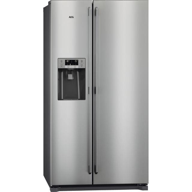 AEG RMB76121NX American Fridge Freezer - Stainless Steel - F Rated