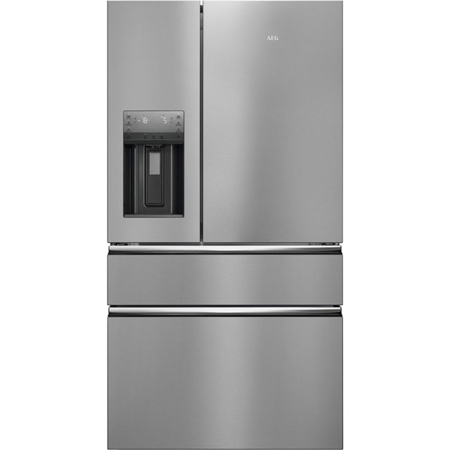 AEG RMB96716CX Free Standing American Fridge Freezer in Stainless Steel