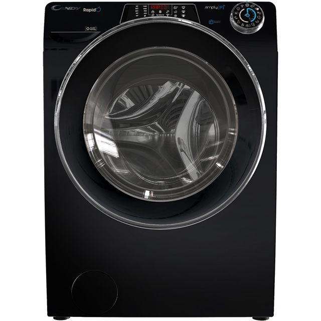 Candy Rapido RO14116DWHCB Wifi Connected 11Kg Washing Machine with 1400 rpm - Black - A+++ Rated - RO14116DWHCB_BK - 1