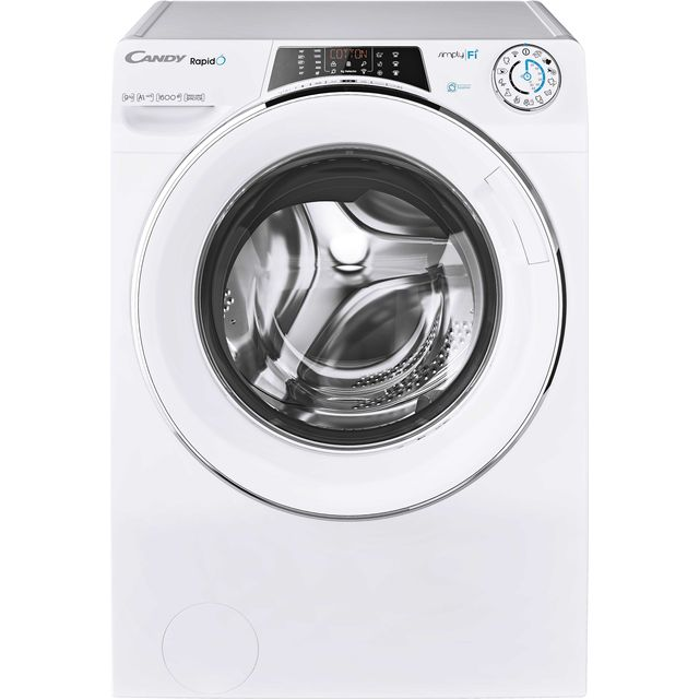 Candy Rapido RO16106DWHC7 Wifi Connected 10Kg Washing Machine with 1600 rpm - White - A+++ Rated - RO16106DWHC7_WH - 1