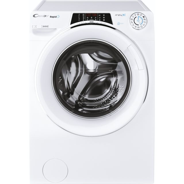 Candy Rapido RO16106DWMCE Wifi Connected 10Kg Washing Machine with 1600 rpm - White - A+++ Rated