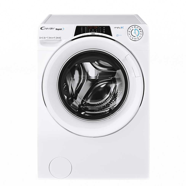 Candy Rapido RO1696DWHC7/1 Wifi Connected 9Kg Washing Machine with 1600 rpm - White - A+++ Rated - RO1696DWHC7/1_WH - 1