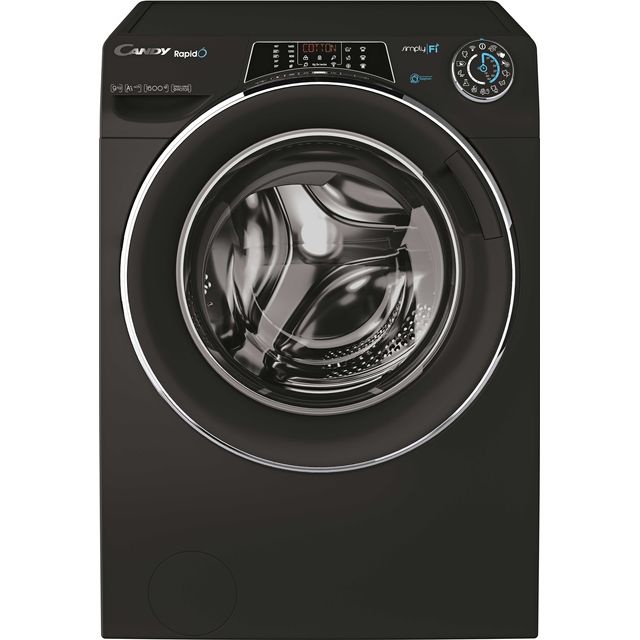 Candy Rapido RO1696DWHC7B Wifi Connected 9Kg Washing Machine with 1600 rpm - Black - A+++ Rated - RO1696DWHC7B_BK - 1