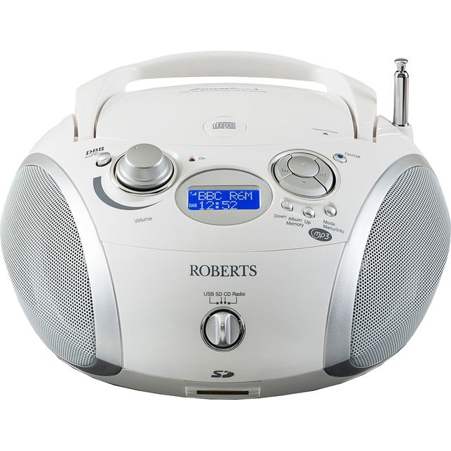 Roberts Radio ZoomBox 3 DAB Digital Radio with FM Tuner - White - ZoomBox 3 - 1