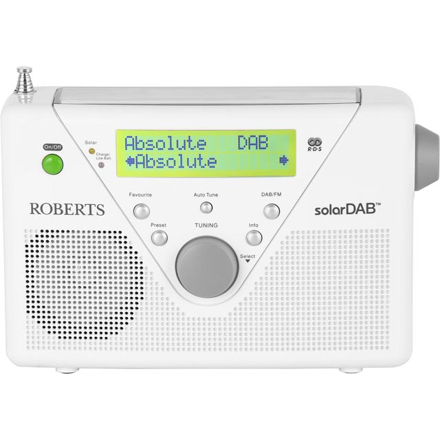 Roberts Radio Solar Portable SolarDAB2w DAB Digital Radio with FM Tuner