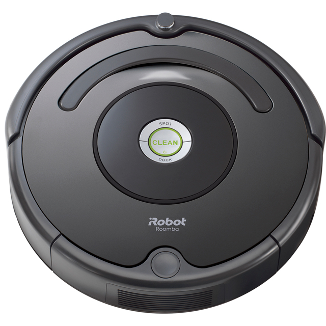 iRobot Roomba 676 Bagless Robotic Vacuum Cleaner - Charcoal - Roomba 676_CH - 1
