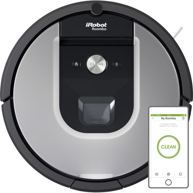 iRobot Roomba 965 Bagless Robotic Vacuum Cleaner - Grey - Roomba 965_GY - 1