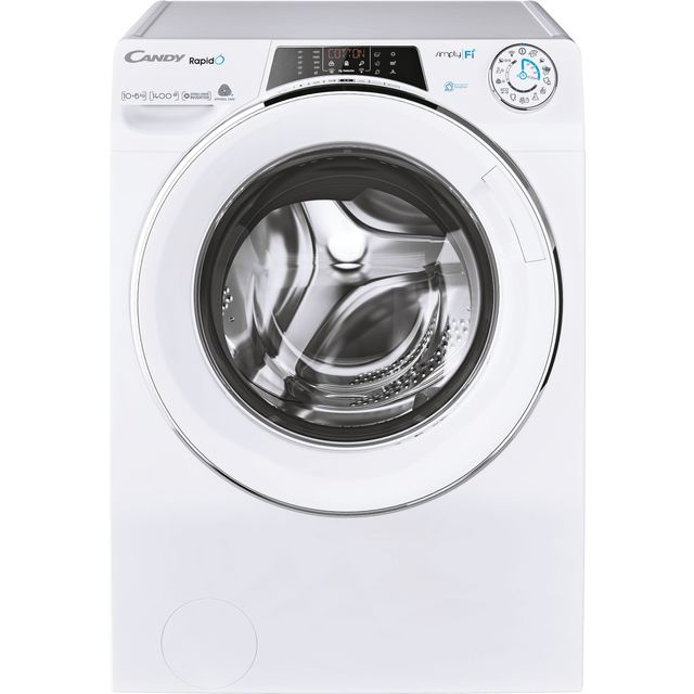 Candy Rapido ROW41066DWMCE Wifi Connected 10Kg / 6Kg Washer Dryer with 1400 rpm - White - ROW41066DWMCE_WH - 1