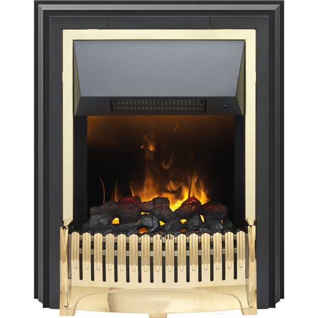 Dimplex Ropley RPL20 Coal Bed Freestanding Fire With Remote Control - Brass - RPL20_BRS - 1