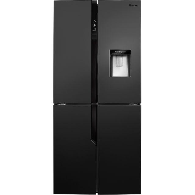 Hisense RQ560N4WB1 American Fridge Freezer - Black - A+ Rated