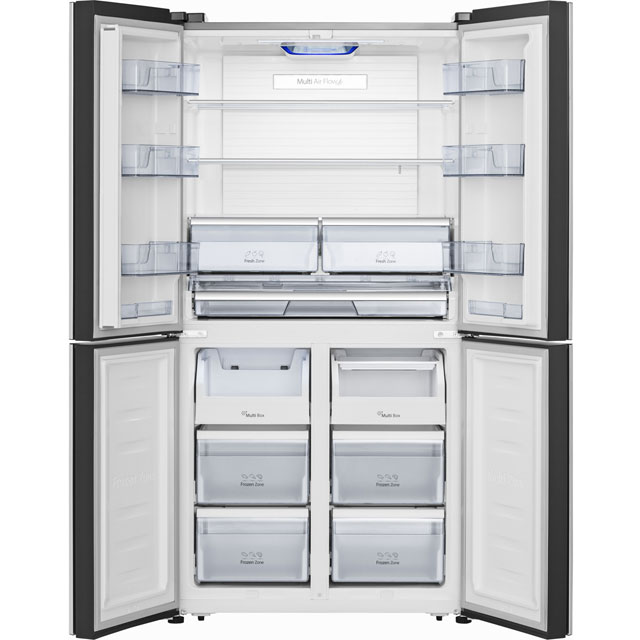 Hisense RQ689N4AC1 American Fridge Freezer - Stainless Steel Effect - RQ689N4AC1_SSL - 3
