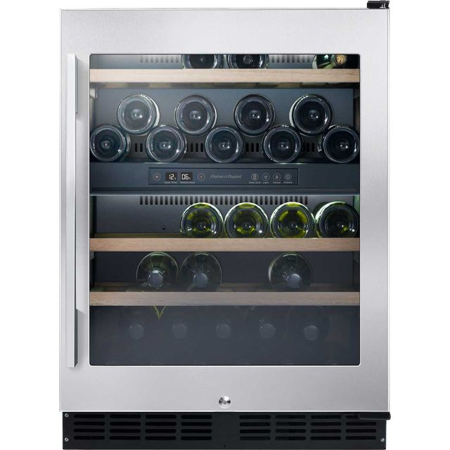 Fisher & Paykel RS60RDWX1 Built In Wine Cooler - Stainless Steel - B Rated - RS60RDWX1_SS - 1