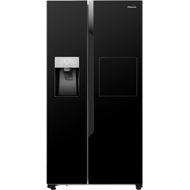 Hisense American Fridge Freezer - Black - A+ Rated