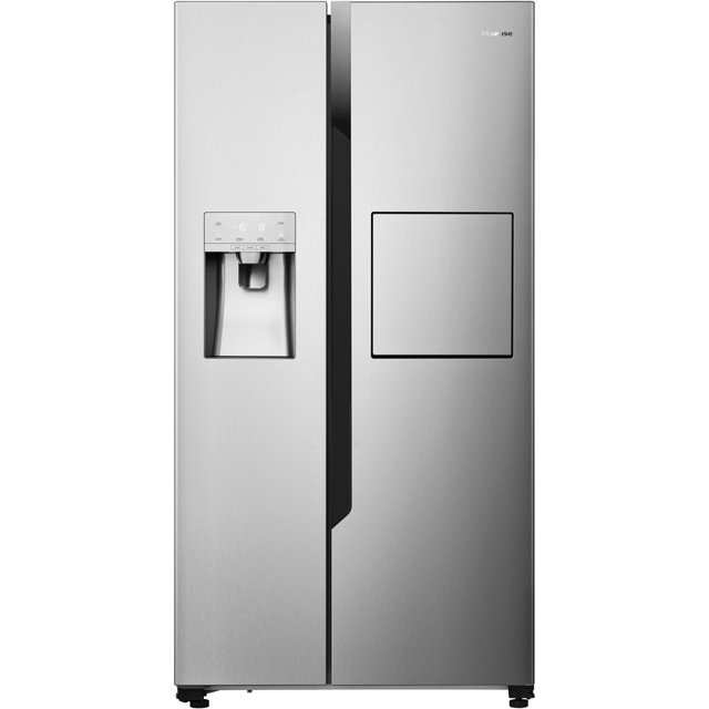 Hisense American Fridge Freezer - Stainless Steel - A+ Rated