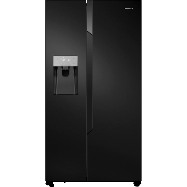 Hisense RS694N4TB1 American Fridge Freezer - Black - A+ Rated Best Price, Cheapest Prices