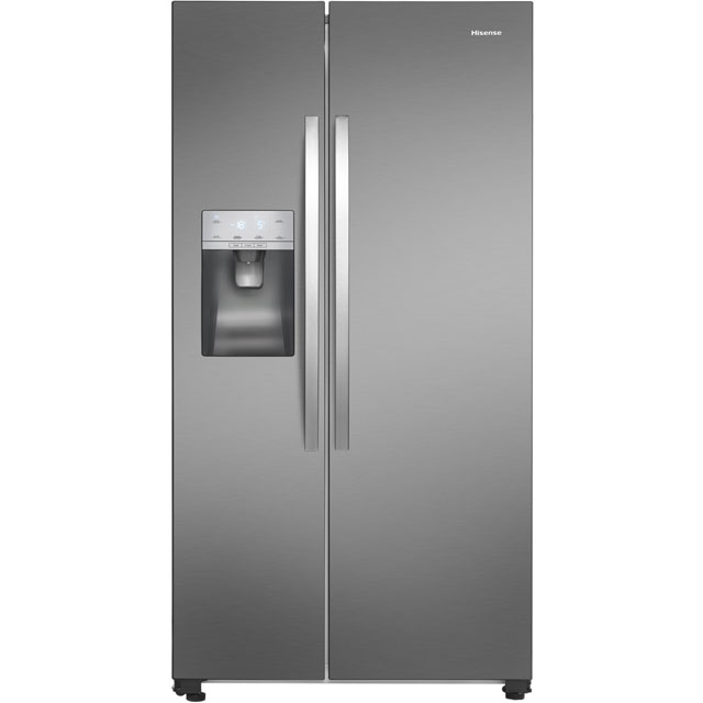Hisense RS696N4II1 American Fridge Freezer - Stainless Steel Effect - A+ Rated Best Price, Cheapest Prices