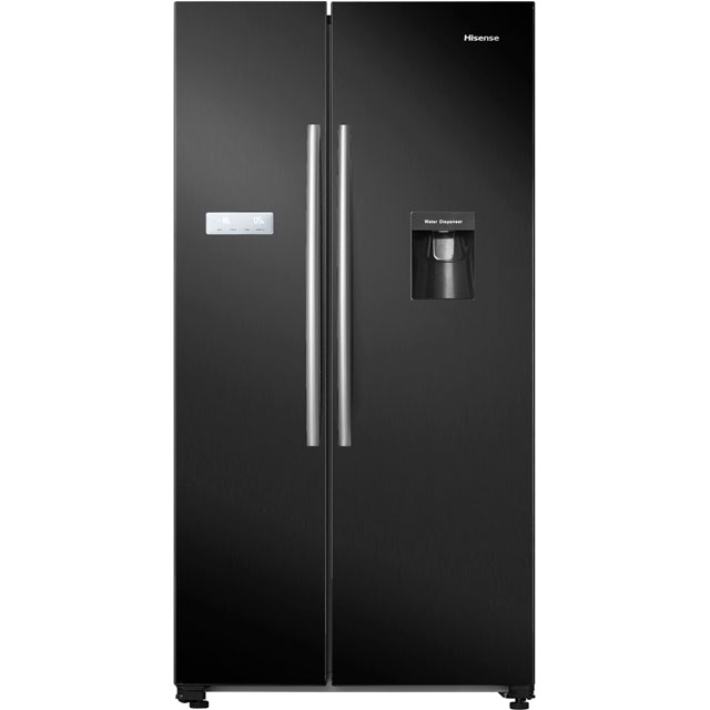 Hisense RS741N4WB11 American Fridge Freezer - Black - A+ Rated - RS741N4WB11_BK - 1