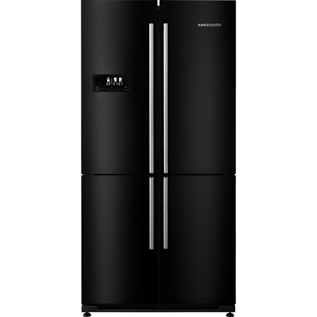 Rangemaster SXS Free Standing American Fridge Freezer in Black