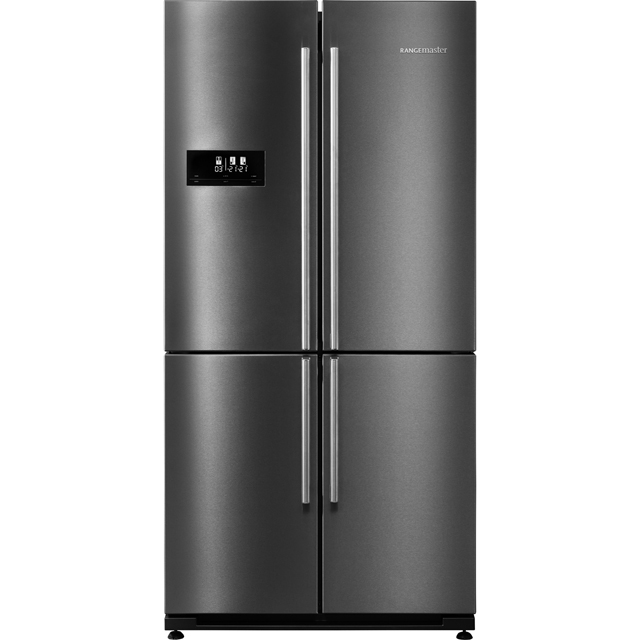 Rangemaster SXS RSXS18DI/C American Fridge Freezer - Dark Silver - A+ Rated Best Price, Cheapest Prices