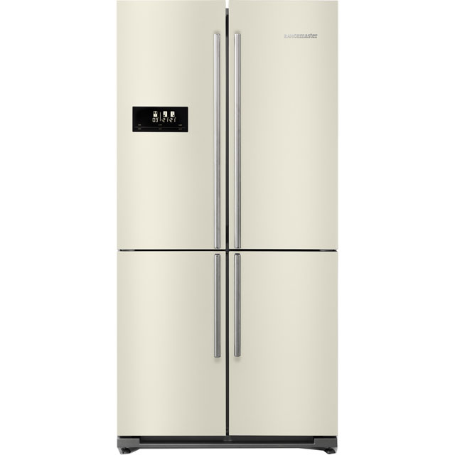 Rangemaster SXS RSXS18IV/C American Fridge Freezer - Ivory Cream - A+ Rated Best Price, Cheapest Prices