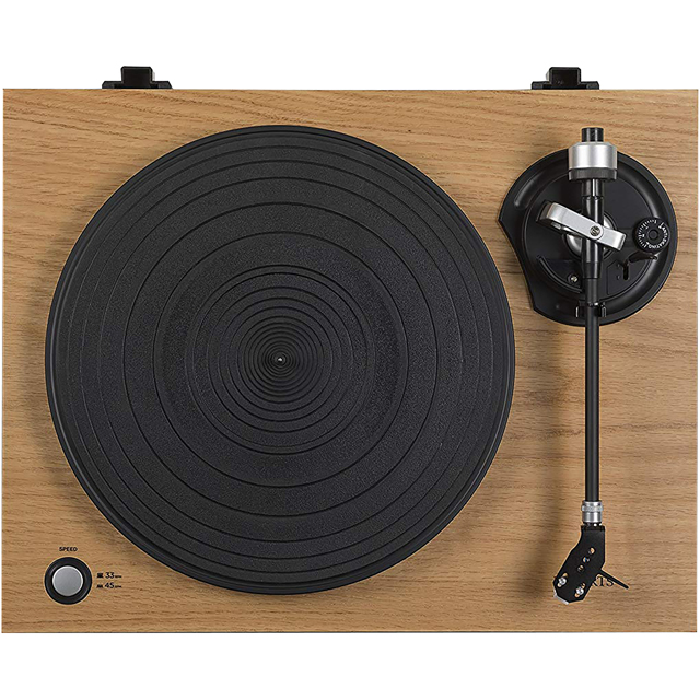 Roberts RT100 High-res Audio Record Turntable with USB and Built-in Pre Amplifier - Wood - RT100 - 1