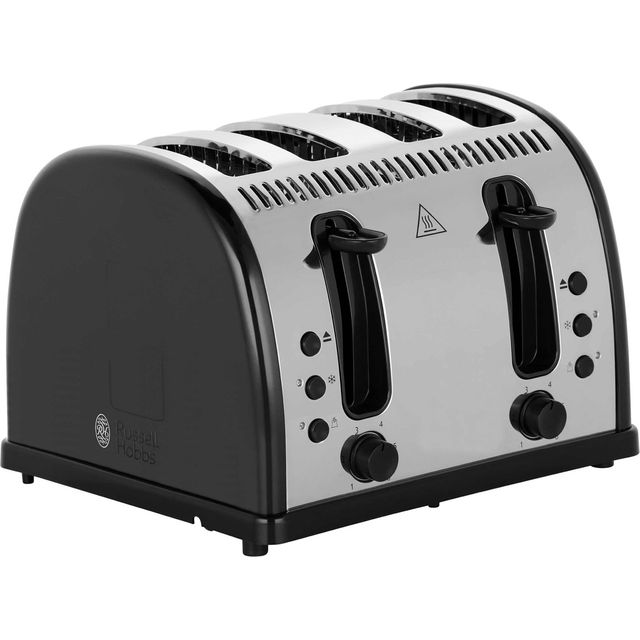 Russell Hobbs Legacy 4 Slice Polished 21303 4 Slice Toaster - Black - 21303_BK - 1